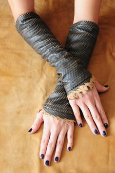Leather fingerless gloves also known as Kittys. I'm a little obsessed... Coming soon to a CAbi rep near you