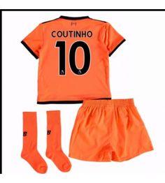 Liverpool Mario Philippe Coutinho 10 Tredjeställ Barn 17-18 Kortärmad e02c55a1befa2