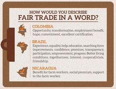 How do you describe #FairTrade in one word? Hope, opportunity, transparency, commitment, honesty...