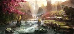 River Speed Paint by Happy-Mutt.deviantart.com on @deviantART  I'd love to be able to paint like that one day.