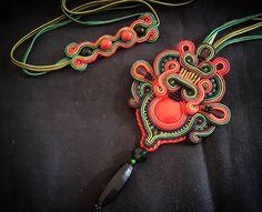 "78 Likes, 12 Comments - Febrini Ananda Nasution (@_a.nanda) on Instagram: ""#soutache #soutachejewelry #sutasz #necklace #handmade #handmadejewelry #handcrafted #pendant…"""