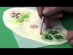 Patchwork Cutters - Using the Poinsettia Stencil - YouTube