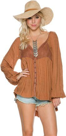 FREE PEOPLE SHEER PLAID WHITE LIE TOP. http://www.swell.com/New-Arrivals-Womens