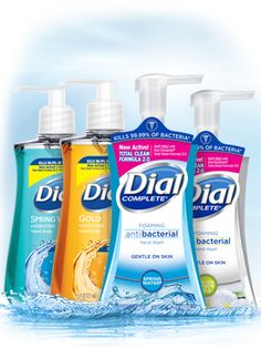 Dial Antibacterial Liquid Hand Soap, Spring Water, Ounce (Count of Dial Soap, Best Perfume For Men, Liquid Hand Soap, Spring Water, Beauty Care, Household Products, Count, Gold, Label