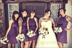 & a tattooed wedding party?  a walking art gallery ♥