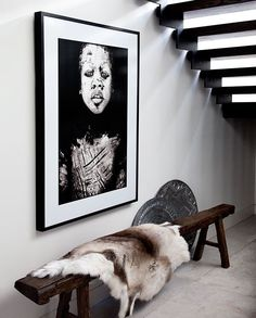 Beautiful portrait and cool idea, bench to take off shoes coming into the house