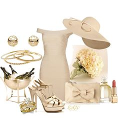 Court house wedding, created by snippins on Polyvore.  Nicer shoes and purse would really lift the outfit much more.