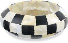 Chamak by Priya Kakkar 1 Black & White Checkered Bone Cuff Bracelet on shopstyle.com