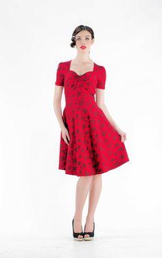 Voodoo Vixen Amy Dress Red £38.99! www.hotrockinbelle.com