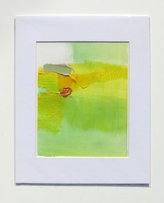 Abstract Landscape Art, 8 x 10 original fine art, matted -- Painting 202. 70.00