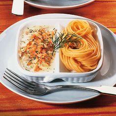 Spaghetti mit Lachs-Sahnesauce