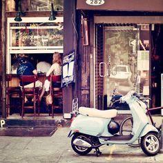 Vespa & New York Neighborhood