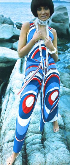 Model photographed on Sardinia's Costa Smeralda for C&A, Avenue (Dutch) May 1969