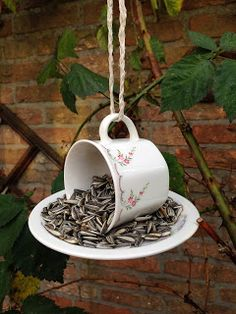 How to make a bird feeder from a teacup – DIY projects for everyone!