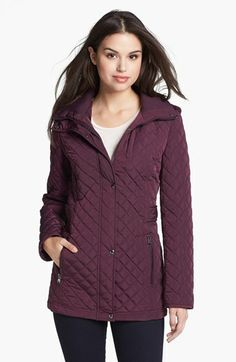 Calvin Klein Knit Collar Quilted Jacket available at #Nordstrom Find more great stuff at: http://www.shopfleur.co/