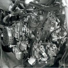 YAMAHA RA31A 125cc Four Cylinder 1967. Some small pistons!