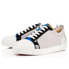 Christian Louboutin louis junior spikes men's flat Version Multi Leather Mens Sneakers
