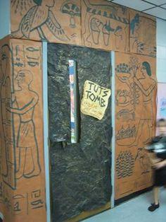 Egyptian door for classroom