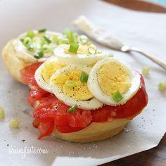 Egg Tomato and Scallion Sandwich | Skinnytaste