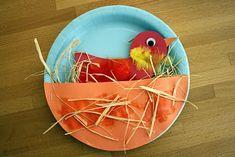 Adorable bird in a nest