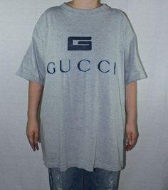 51e2e92afb3 90s Gucci Bootleg XL Shirt Big Logo Hip Hop Spell Out Vtg Vintage