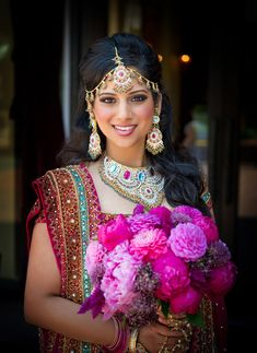 Best Bridal Makeup Artists In Mumbai & Our Top Mumbai is considered as one of the most modern and happening cities of India. The existing business of film and TV industry is responsible for making it even, Bridal Sari, Indian Bridal, Bride Indian, Beautiful Indian Brides, Beautiful Bride, Hindus, Wedding Bouquets, Wedding Gowns, Wedding Themes