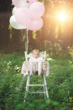 Pink and Ivory Shabby Chic Highchair Banner/ by apetitesoiree, $32.00