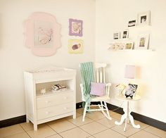 Idea: small corner area (or part of bathroom) set up for nursing - also, diaper changing station.