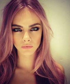 Cara purple hair