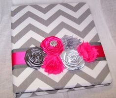 Chevron Guest Book WEDDING GUEST BOOK Hot by itsmyday on Etsy, $52.00