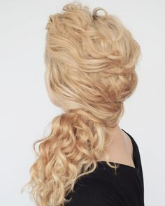 Another style for curly girls! This side ponytail is created with a series of twists. Search 'curly side pony' on www.hairromance.com for the tutorial. You might also like my curly hair ebook too #curlyhairromance