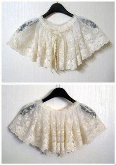 Elegance cotton lace ribbon cape by SweetDiane on Etsy