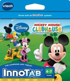 Kids' Personal Video Players - VTech InnoTab Software Disneys Mickey Mouse Clubhouse -- Check out the image by visiting the link.