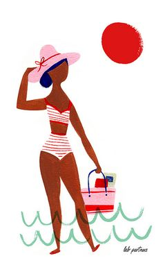 Beachy by Lab Partners (via illustrated ladies) Pretty Drawings, Art Paintings, Illustrations Posters, Collages, Illustrators, Character Design, Illustration Art, Graphics, Patterns