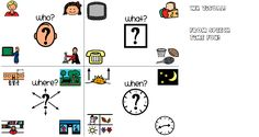 WH Question Visual-helps illustrate the different types of answers. From Speech Time Fun. Pinned by SOS Inc. Resources @sostherapy.