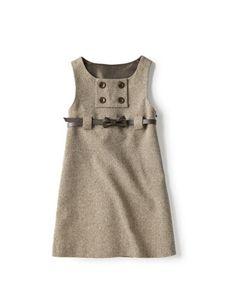 A little lady outfit! Little Fashionista, Little Girl Outfits, Kids Outfits, Baby Girl Fashion, Kids Fashion, Girls Pinafore Dress, Baby Dress Patterns, Winter Mode, Inspiration Mode