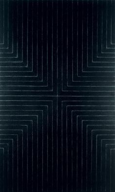 Frank Stella, Die Fahne hoch!, 1959. Enamel on canvas, 121 1/2 × 73 in. (308.6 × 185.4 cm). Whitney Museum of American Art, New York; gift of Mr. and Mrs. Eugene M. Schwartz and purchase with funds from the John I. H. Baur Purchase Fund, the Charles and Anita Blatt Fund, Peter M. Brant, B. H. Friedman, the Gilman Foundation Inc., Susan Morse Hilles, The Lauder Foundation, Frances and Sydney Lewis, the Albert A. List Fund, Philip Morris Incorporated, Sandra Payson, Mr. and Mrs. Albrecht Saalf...