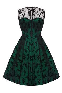 New Emerald Green Lace Voodoo Vixen 50's Rockabilly Vintage Cocktail Party Dress | eBay