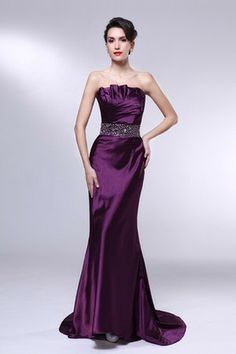 Plum purple beaded waistband ruched satin mermaid by ThingsInLove. Sposa  Top · Abiti mamma Sposa b1fbce9628d