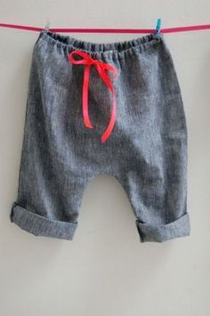 Sarouel - Tissu chambray, look for little skirt pattern idea also