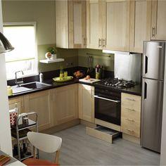meuble de cuisine delinia, composition type topaze vert, vert