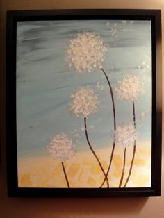Wishing Flowers Acrylic Painting by ArtandElixir on Etsy, $95.00