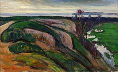 """RENÉ SEYSSAUD (1867 - 1952) - """"La Touloubre par temps gris"""" - 1933"""