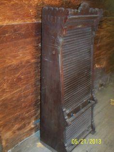Rare Antique-- Rand & Avery Co. Rolltop Gun Cabinet