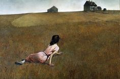 """In 1948, Andrew Wyeth painted """"Christina's World,"""" portraying a woman whose degenerative illness deprived her of the ability to walk. Description from devotionalstsf.org. I searched for this on bing.com/images"""