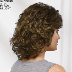 Long Color Me Beautiful WhisperLite® Wig by Paula Young® - Exclusive Color Wigs - Wigs Mohawk Hairstyles For Girls, Layered Bob Hairstyles, Hairstyles With Bangs, Curly Hair With Bangs, Long Curly Hair, Short Hair With Layers, Layered Hair, Medium Hair Styles, Curly Hair Styles