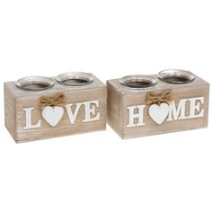 Home Provence Heart Double T Tea Light Holder Shabby Chic Retro Gift Candle Wood for sale online Shabby Chic Candle, Shabby Chic Hearts, Wood Tea Light Holder, Wood For Sale, Concrete Crafts, Tealight Candle Holders, Love Gifts, Tea Lights, Candles
