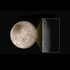 A newly released Charon photo, which was taken by NASA's New Horizons probe during its epic Pluto flyby Tuesday (July 14), reveals a mountain rising out of a big hole on the 750-mile-wide (1,200 kilometers) moon's surface.