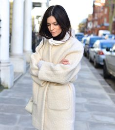 Hedvig Opshaug of The Northern Light in a beautiful winter white outfit! #winterwhite #bloggerstyle
