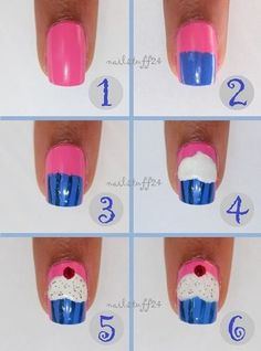 64 Best Cupcake Nails Images On Pinterest Cute Nails Pretty Nails